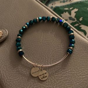 Alex and Ani bracelet blue beads